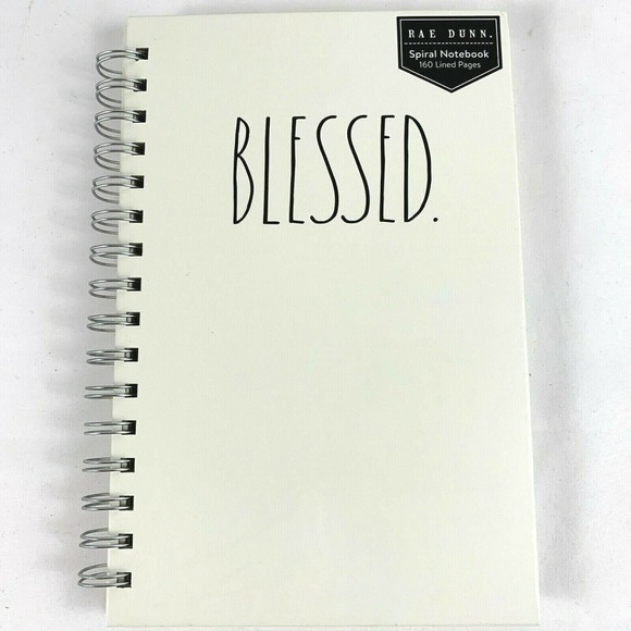 Rae Dunn Spiral Notebook 160 Lined Pages BLESSED